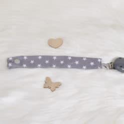 Schnullerband grauer Clip 1